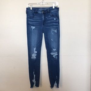American Eagle Jegging distressed sz 10